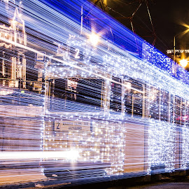 Light tram by István Decsi - Transportation Other ( hungary, budapest, christmas, tram, light_tram,  )