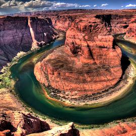 Horseshoe Bend by Margery Cortes - Landscapes Travel ( gooseneck, colorado, canyon, river )