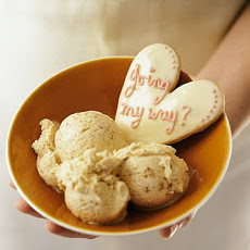 White Chocolate Amaretti Ice Cream