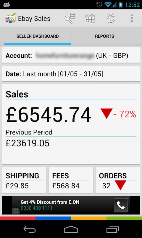 ebay sales reports