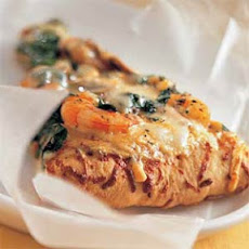 Shrimp, Spinach, and Basil Pizza Bianca