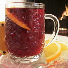 Fireside Cranberry Pomegranate Spiced Cider