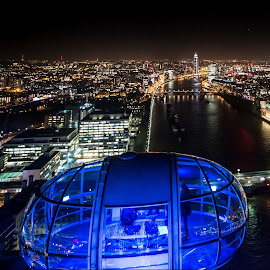 London skyline from the Eye by Richard Ryan - City,  Street & Park  Skylines ( london, eye themes,  )