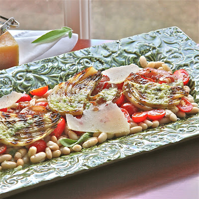 Grilled Fennel and Cannellini Bean Salad with Lemon Sage Dressing