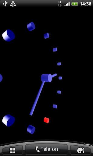 3Dクールブルーアナログ時計