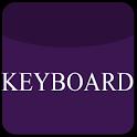 Violet Glass Keyboard Skin