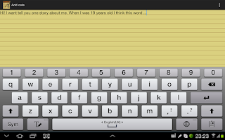 Screenshot of Notepad