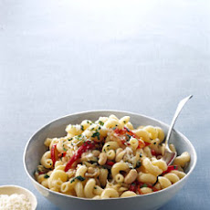 Cavatappi with White Beans and Golden Onions