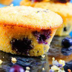 Blueberry Maple Cornbread Muffins