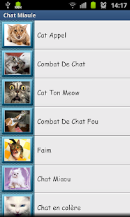 Screenshots  Miaulement - Sonneries de Chat