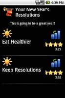 Screenshot of Free New Year's Resolutions