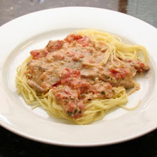 Veal with Tomato Cream Sauce