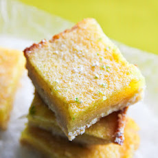 Lime Curd Bars with Coconut Crust