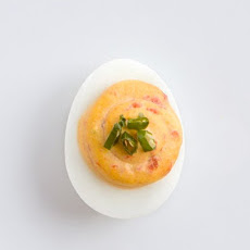 Roasted Pepper–Thai Chile Deviled Eggs
