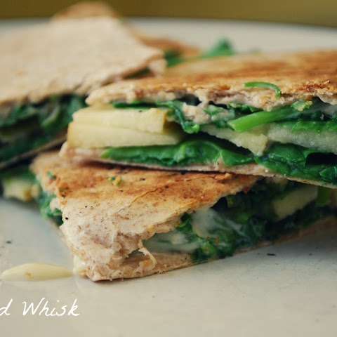 Brie, Apple, and Arugula Quesadillas Recipe | Yummly