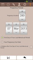 Screenshot of Easy Pregnancy Tracker