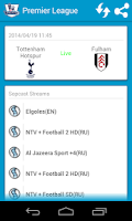 Screenshot of Soccer Live