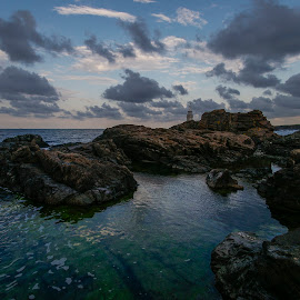 Ahtopol evening by Yordan Mihov - Landscapes Travel ( black sea, ahtopol, burgas, evening, rocks, bulgaria )