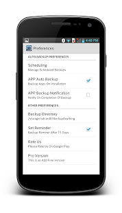 Backup Pro SMS, Contacts, Apps - screenshot