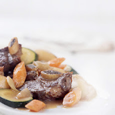 Red Wine-Braised Short Ribs with Vegetables