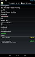 Screenshot of Job Application Db