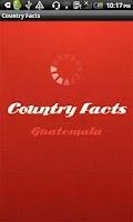 Screenshot of Country Facts Guatemala