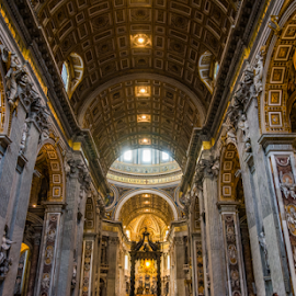 St. Peter's Basilica by Bill Higginson - Buildings & Architecture Other Interior ( history, church, rome, st peter, chapel, basilica, historic )