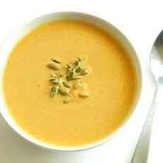 Creamy Butternut Squash, Green Apple & Curry Soup