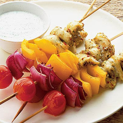 Spicy Thai fish kebabs