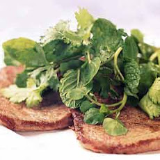 Beef Paillards with Watercress and Herb Salad