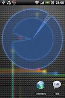 Screenshot of Polarizer Analog Clock: Blue