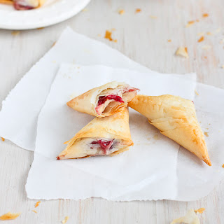 3-Ingredient Brie & Cranberry Phyllo Turnovers