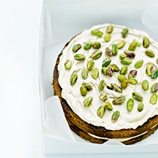 Coffee and Cardamom Cake with Pistachios