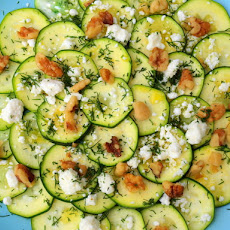 Serious Salads: Zucchini with Feta, Walnuts and Dill