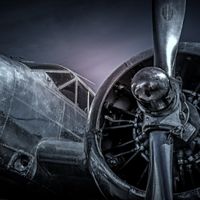 WWII by Nigel Bullers - Transportation Airplanes ( flight, plane, airplane, retro, air )