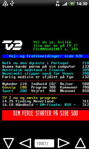 DR TV2 Tekst TV