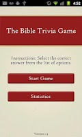Screenshot of The Bible Trivia Game