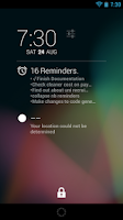 Screenshot of Evernote Dashclock Extension