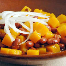 Frijoles Colorados (Red Beans with Squash)