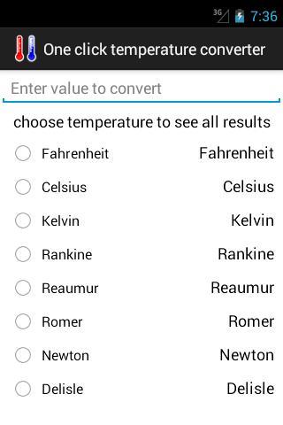 1 click temperature converter