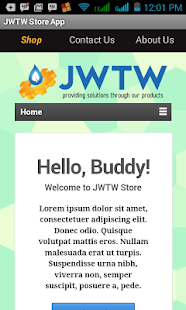 JWTW Store App - screenshot