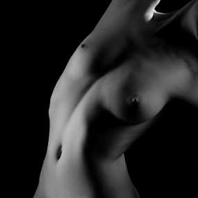 body shape by Paul Phull - Nudes & Boudoir Artistic Nude ( body, art nude, black and white )