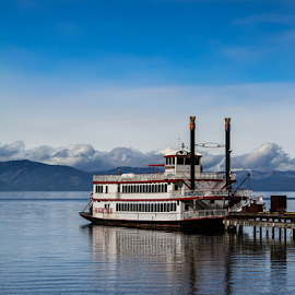 M.S. Dixie by Abhay Dalessandro - Transportation Boats ( water, m.s dixie, lake, paddle boat, lake tahoe )