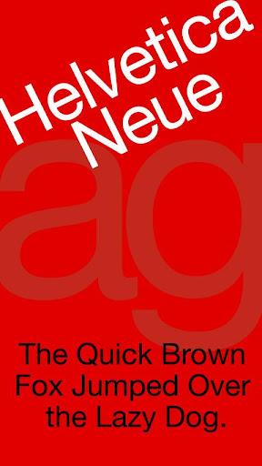 Helvetica Neue 영문 FlipFont