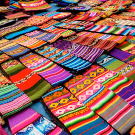 Textiles for sale at Peruvian Market by Tyrell Heaton - Artistic Objects Clothing & Accessories ( textiles for sale at peruvian market )