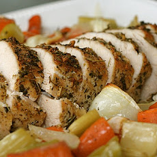 Herb Roasted Turkey Breast with Vegetables