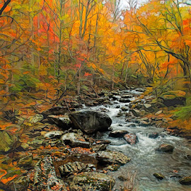 Fall glow by Lowell Griffith - Digital Art Places