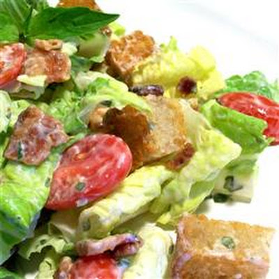 B.L.T. Salad with Basil Mayo Dressing