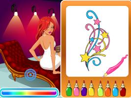 Screenshot of Tattoo Project Salon,Girl Game