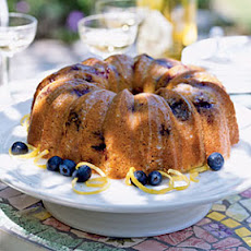 Glazed Lemon-Blueberry Poppy Seed Bundt Cake